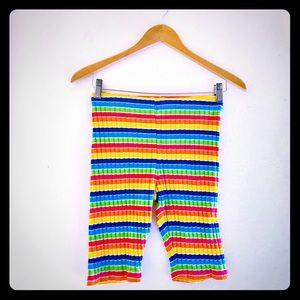 Adorable Vintage Rainbow Stripe Biker Shorts XS